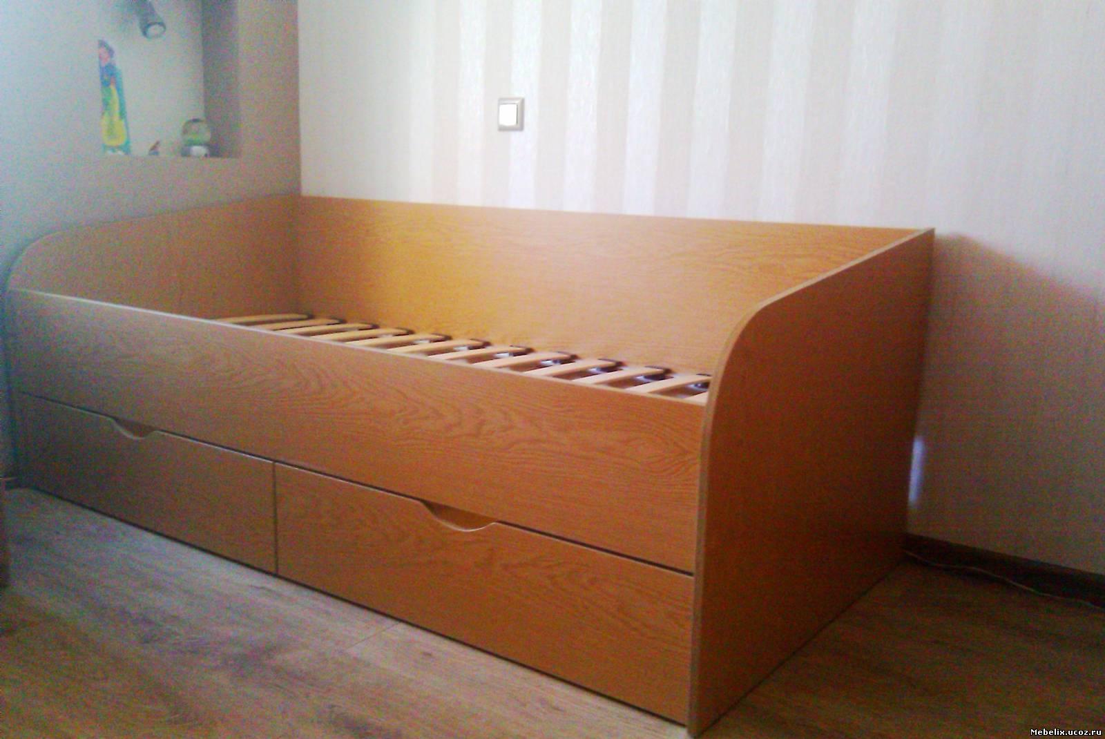 Как сделать кровать с ящиками своими руками. Чертеж и инструкция 68